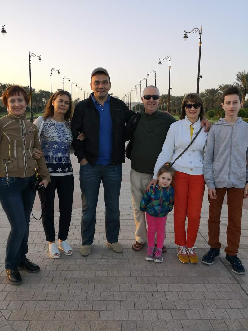 С Гостями из Одессы на обзорной Экскурсии по Дубаю