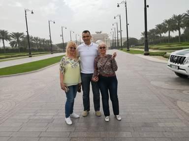 С Гостями из Украины город Днепр Любовь и Евгения на обзорной экскурсии по Дубаю
