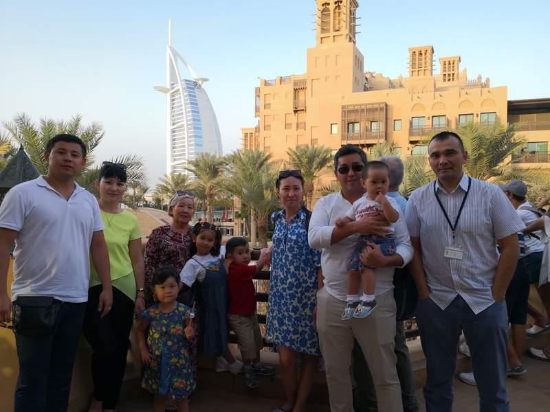 С Гостями из Казахстана Данияр и Абзал с семьями