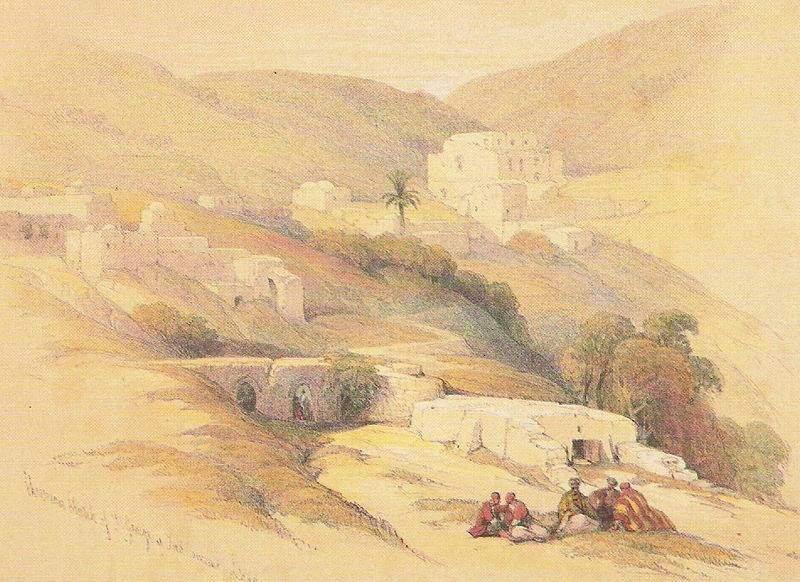 Абу Гош. Картина Дэвида Робертса