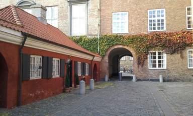внутренний дворик дворца Кристиансборг