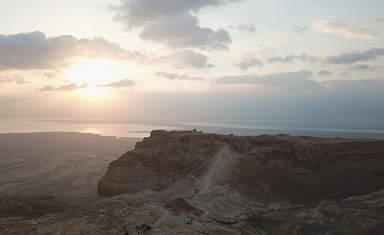 Восход солнца Иудейская пустыня