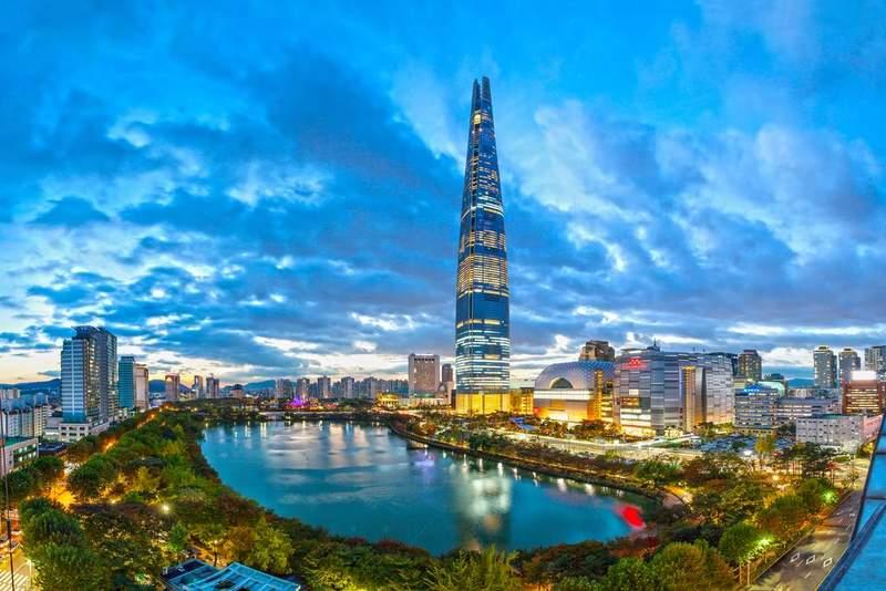 Самая высокая башня Кореи Лотте Скай Тауэр