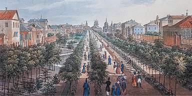 Тверской бульвар начало XIX века