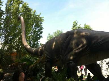Экспозиция двигающихся динозавров