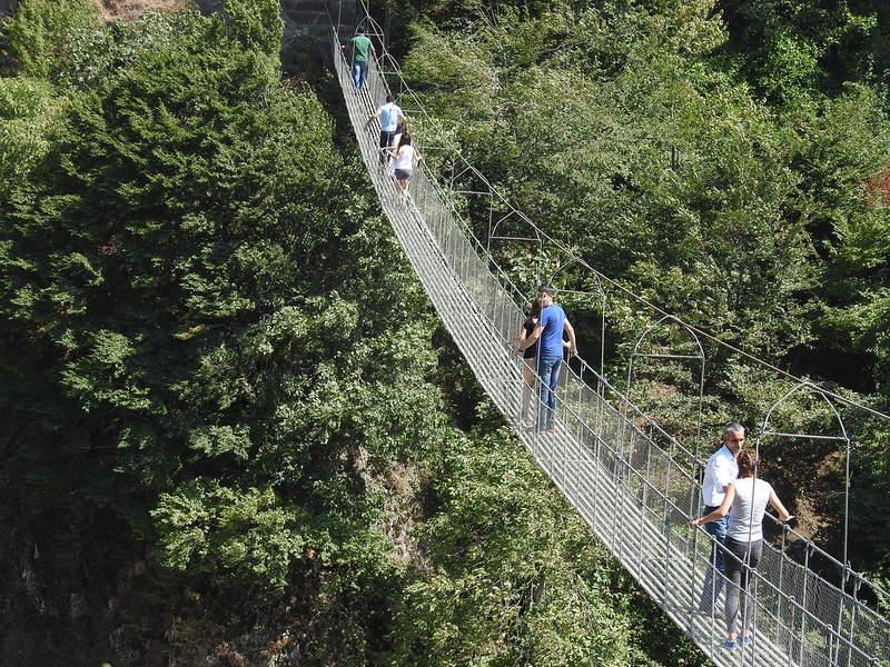 Подвесной мост в Исмаиллы