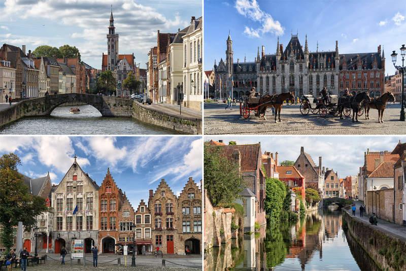 набережная Брюгге, шоколад, бельгийское пиво, каналы, пряничные домики