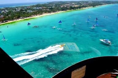 Вид из вертолета. Боракай, Филиппины