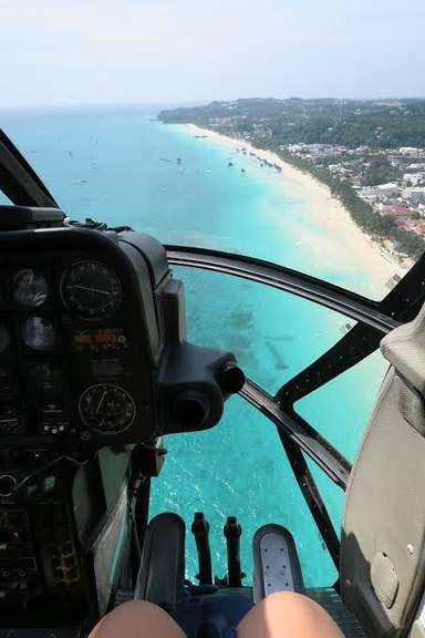 Полет на вертолете. Боракай, Филиппины