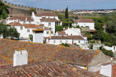 Красные крыши и крепостная стена