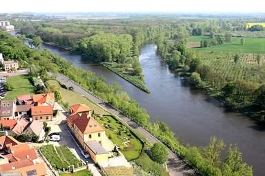 Слияние рек Эльбы и Влтавы