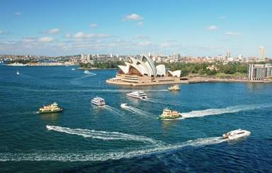 Сиднейская гавань и здание Оперного Театра