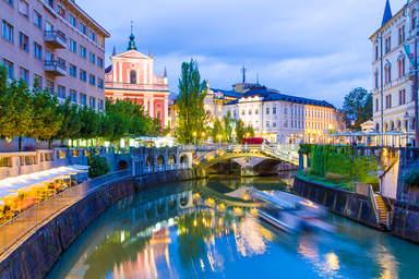 Любляна, набережная Любляницы