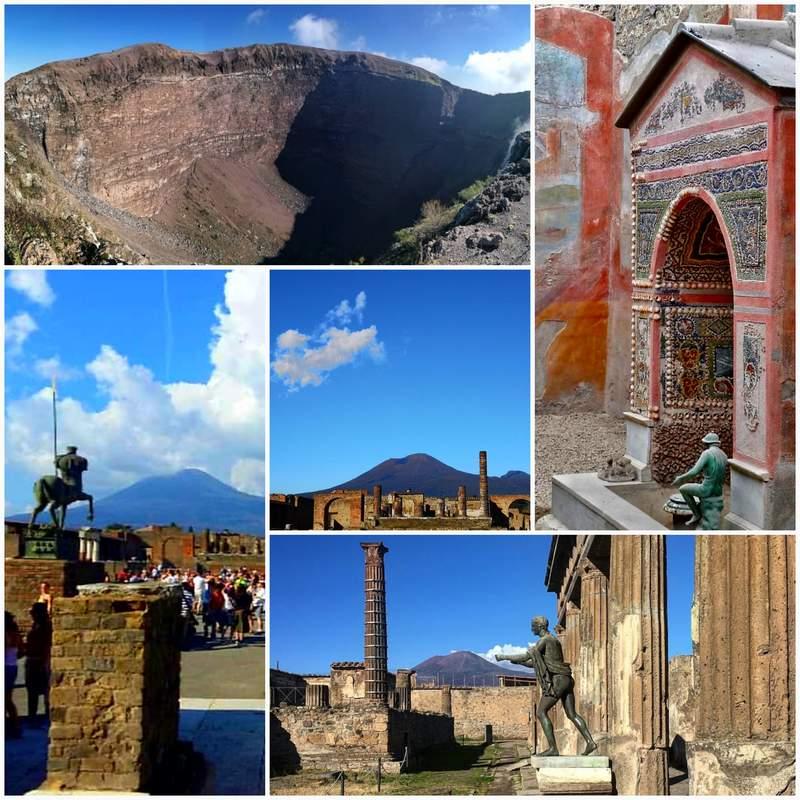 Античный Помпеи + величественный Везувий