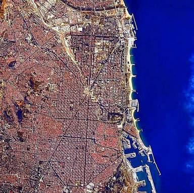 Барселона из космоса