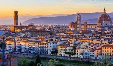 Вид на Флоренцию из площади Микеланджело