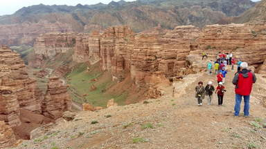 Чарынский парк, каньон - долина замков.