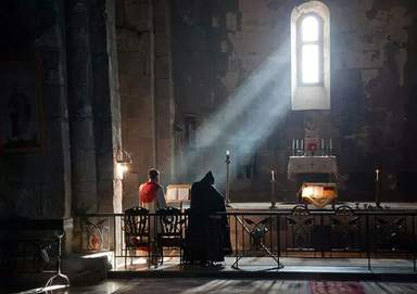 Литургия, монастырь  Гегард