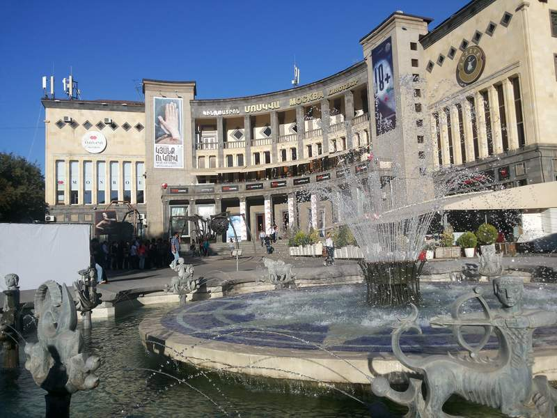 Ереван, площадь Шарля Азнавура
