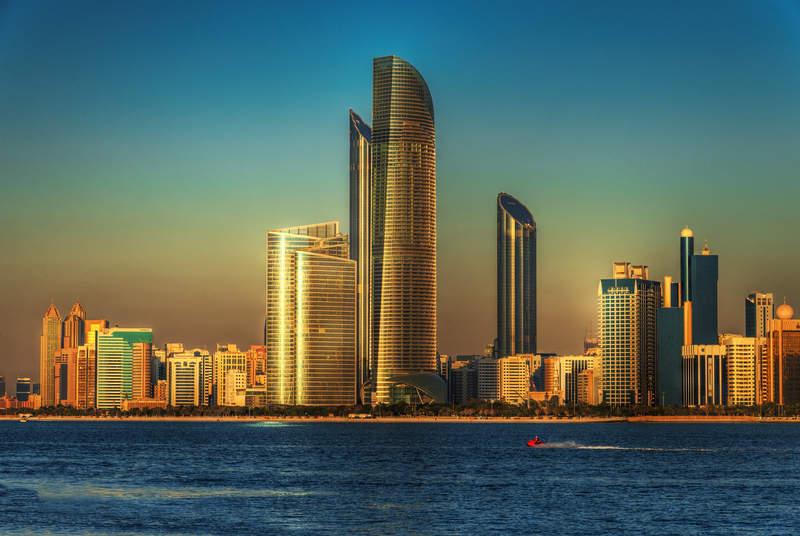 Вид с Набережной Абу Даби