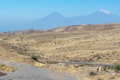 Вид на гору Арарат с перевала Кярки