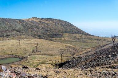 Склоны горы Арагац