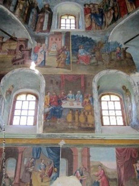 Старинные фрески в Радищеве