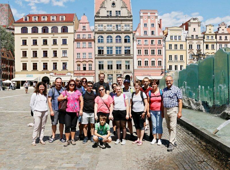 Вроцлав. Фонтан на главной площади.