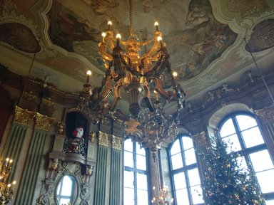 Замок Ксенж. Зал Максимильяна.
