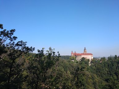 Замок Ксенж. Вид со смотровой площадки.
