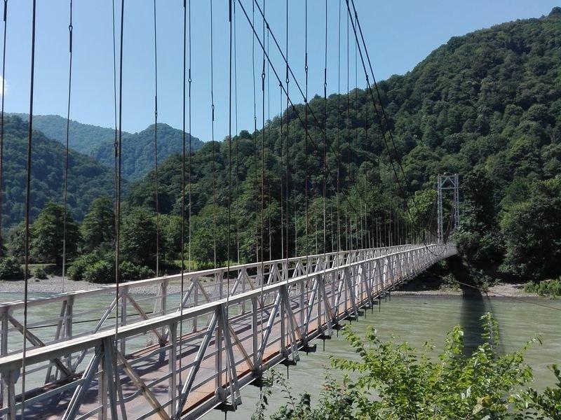 Автомобильный мост в деревеньку Мирвети