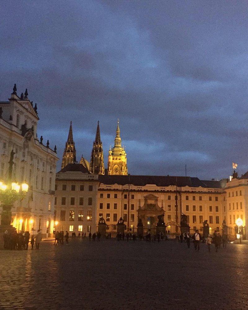 Пражский Град с Градчанской площади