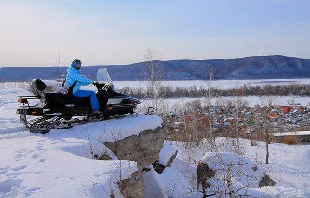 прогулка на снегоходе