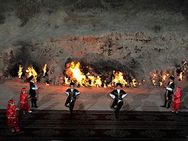 Фестиваль у горящей горы