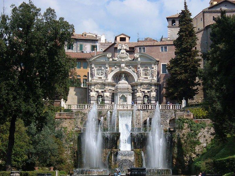 Вилла д'Эсте. Парк с фонтанами.