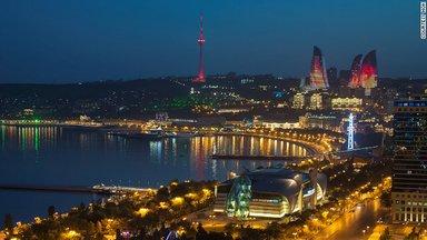 Вид города с бакинской набережной