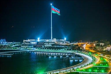 Проезд по вечернему Баку по окончанию экскурсии