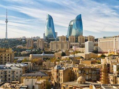 Проезд через главные  достопримечательности Баку