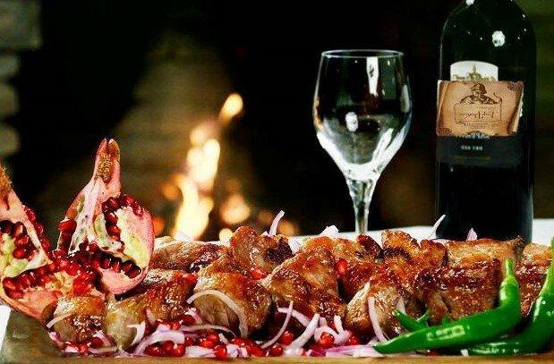 вино и мясо)