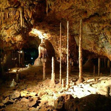 Сталактиты в Катержинской пещере