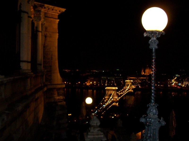 Вид на Цепной мост ночью