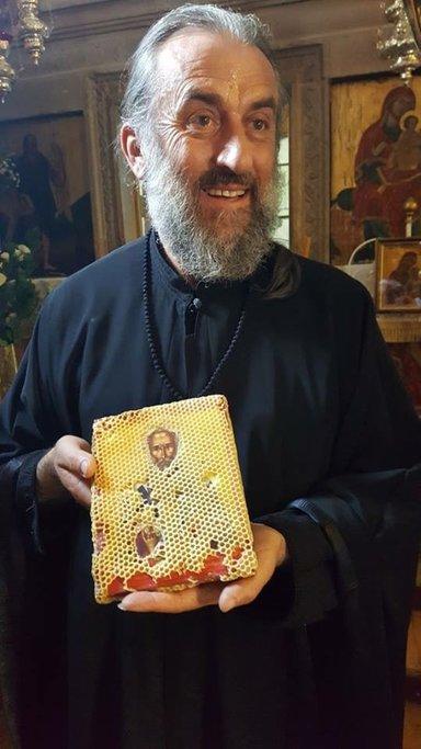Отец Поликарп ученик Святого Паисия в монастыре Кассопитры