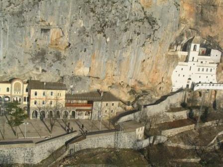 Вид сверху на монастырь