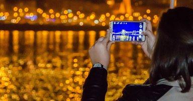 Будапешт в вечерних огнях