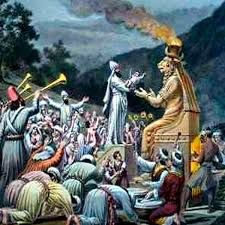Культ бога Молоха, приношение в жертву детей.
