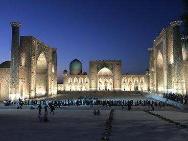 Самарканд , площадь Регистан