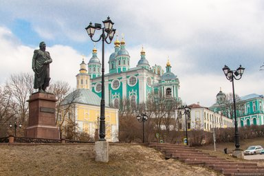 Памятник великому русскому полководцу М.Кутузову в Смолеснке.