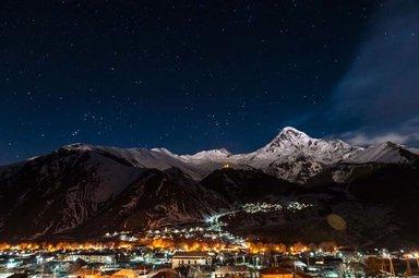 Kazbek at night