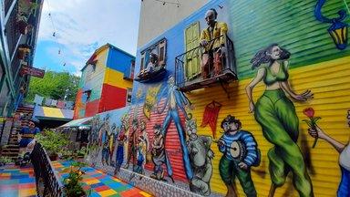 Colorful tenement at Caminito Boca Buenos Aires