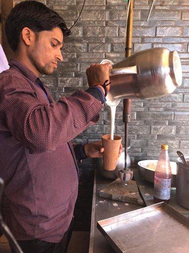 Lassi in old city Agra